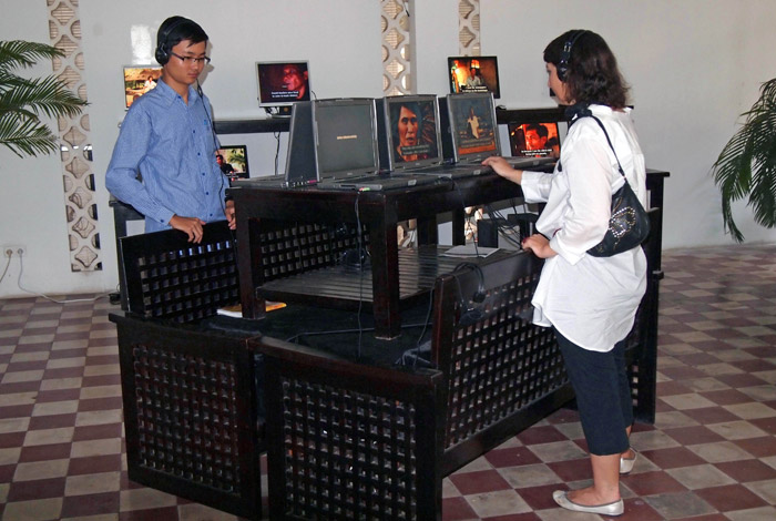 Voices of Khmer Rouge at the Bophana center